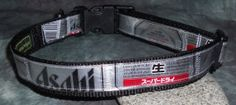 Adjustable Dog Collar from Recycled Asahi Beer labels by squigglechick, $20.00