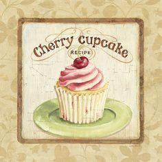 Cherry Cupcake - Artprint - www.allposters.be