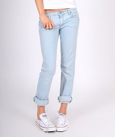 Take a look at this Azure American Straight-Leg Jeans by M2F on #zulily today!