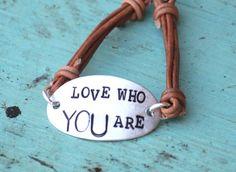 tween hand stamp leather bracelet
