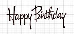 Happy Birthday free silhouette cut file