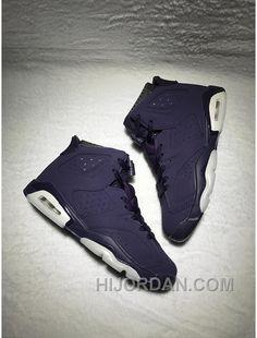 sports shoes 438f7 85adf AIR JORDAN 6 RETRO GG Purple Dynasty Purple Dynasty-White