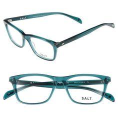 SALT 'Anne Marie' 50mm Optical Glasses (2.790 NOK) ❤ liked on Polyvore featuring accessories, eyewear, eyeglasses, teal, lens glasses, lightweight glasses, square eyeglasses, square glasses and acetate glasses