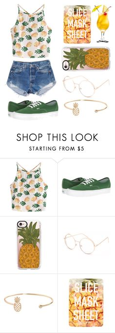 """My summer style"" by keren300 ❤ liked on Polyvore featuring WithChic, Levi's, Vans, Casetify, Full Tilt, Humble Chic and Topshop"