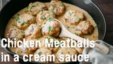 Chicken meatballs in rich sauce are diminished down balls served in exciting smooth sauce. Serve it with piles of sauce poured over your favored pasta or noodles, it's soo incredible! What you get from this chicken meatballs recipe Cream Sauce Recipes, Meat Recipes, Chicken Recipes, Cooking Recipes, Healthy Recipes, Recipe Chicken, Kitchen Recipes, Easy Cooking, Family Meals