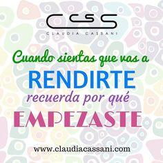 Retroceder nunca rendirse jamás #ClaudiaCassani