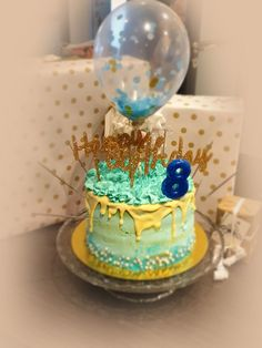 Les 8 ans de ma jolie poupée Drip Cakes, Snow Globes, White Chocolate, Raspberry, Vanilla Cream