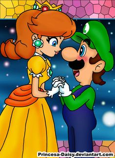 LXD - We belong together by Princesa-Daisy on DeviantArt Luigi And Daisy, Princesa Peach, Super Mario Art, Super Mario Brothers, Mario Bros., Kids Shows, Super Smash Bros, My Little Pony, Cute Couples