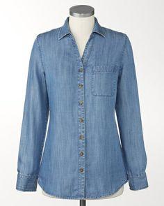 Tencel® chambray shirt | Coldwater Creek