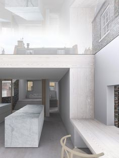 Kitchen Render - Brompton Square House by McLaren.Excell