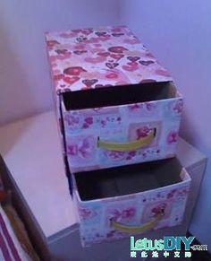 DIY storage box by milk box -----LetusDIY.ORG|DIY Everything here