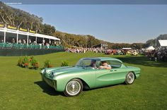 1955 Chevrolet Biscayne XP-37 show car. Note the style influence on later Corvette, Corvair and Riviera.
