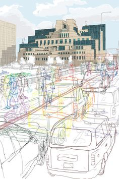Drawing In Secret London Chosen for Serco Prize. London Transport museum - Selected to be exhibited in The London Transport Museum (Serco AOI) Gcse Art Sketchbook, Sketchbooks, London Transport Museum, Public Transport, Outline Art, Photocollage, Building Art, A Level Art, Urban Sketching