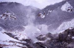 Jigoku-dani, Noboribetsu, Hokkaido.  ex-volcano crater.