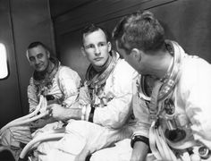 Astronauts Grissom, White and Chaffee of Apollo 1 on their way to the training exercise that would ultimately lead to their tragic deaths.