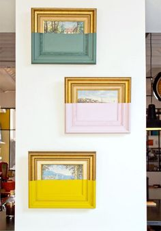 dip-dyed photo frames