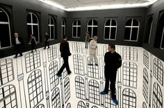 Regina Silveira's Illusion Art. Would look great in a hotel foyer.