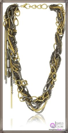 Gemma Redux Gold and Gunmetal Libby Necklace