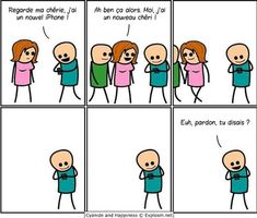cyanide and happiness new iphone new boyfriend Funny Images, Funny Pictures, Smartphone, Humor Grafico, Just For Laughs, Funny Comics, Funny Cartoons, Thought Provoking, Entertainment