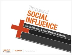 """""""The Power of Social Influence,"""" PowerPoint and/or Keynote presentation design by Harp Advertising + Interactive. Diagonal lines, bold colors, and cutting edge layouts make these slide designs feel very energetic."""