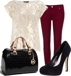 Elegant outfit.