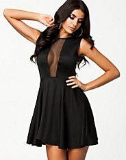 Deep V-Neck Mesh Dress, Oneness