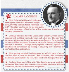 Over 100 Fascinating Facts About U.S Presidents Past and Present : Facts About US Presidents Calvin Coolidge Check Out Part 1 of This Post Here Presidents Wives, Republican Presidents, American Presidents, American Soldiers, Us History, Women In History, British History, History Facts, Ancient History