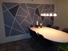 DIY grafisk mønster på væg