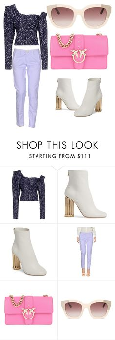"""""""look #trendy #ss18 #colour #violet"""" by andzelika-niklewicz on Polyvore featuring Magda Butrym, Salvatore Ferragamo, Barba and Pinko"""