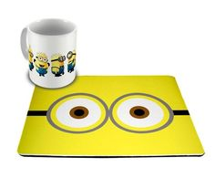 Mug Rug Minions, would be an easy diy. Cute gift for Lissa's desk.