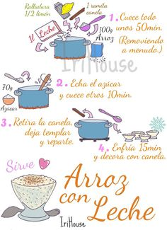 Cake Mix Recipes, Rice Recipes, Cooking Recipes, Spanish Dishes, Spanish Food, Yummy Drinks, Yummy Food, Recipe Drawing, Food Drawing