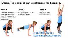 Cet exercice offre un développement complet de la condition physique. Musculairement, il renforce les cuisses, les fessiers, les pectoraux, les épaules, les triceps et la ceinture abdominale.  Découvrez l'astuce ici : http://www.comment-economiser.fr/exercice-complet.html?utm_content=bufferb2e0c&utm_medium=social&utm_source=pinterest.com&utm_campaign=buffer