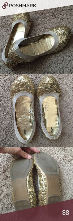 Mossimo Gold Sequins Ballet Flats Ballet Flats adorned with gold sequins. Sz. 9 worn a few times. No signs of wear. Mossimo Supply Co Shoes Slippers
