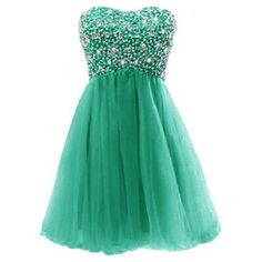 Dressystar Short Tulle Sweetheart Shiny Beaded Prom Dresses