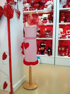 Valentine's Display from our Atlanta Showroom @America smart cordero Atlanta Summer 2013! #burtonandburton #valentine #apron