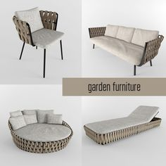 garden furniture 3d model 3d model
