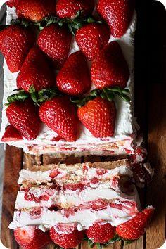 Strawberries  Cream Icebox Cake {Mind Over Batter}