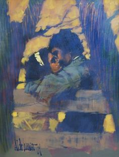 Lovers in the Park 1969 42x32 by Aldo Luongo