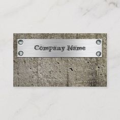 Cement Wall Metal Construction Cool Business Card