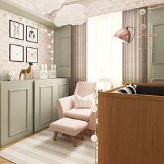 Children's nurseries inspirations Baby Bedroom, Home Bedroom, Kids Bedroom, Baby Room Design, Toddler Rooms, Luxurious Bedrooms, Baby Decor, Girl Room, Decoration