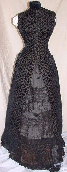 1880-1883 Silk Dress