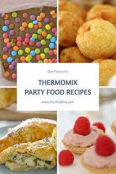 We've put together this post with a few of our favourite Thermomix Party Recipes to give you some inspiration for your next event - enjoy! Thermomix Party, Thermomix Desserts, Mulberry Recipes, Spagetti Recipe, Xmas Desserts, Bellini Recipe, Easy Party Food, Party Food Kids, Journals