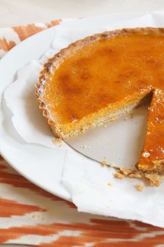 Pumpkin Brulée Tart with Gingerbread Crust: http://www.stylemepretty.com/living/2015/09/21/35-pumpkin-recipes-full-of-sugar-spice-everything-nice/