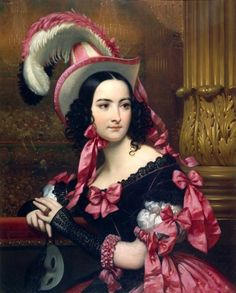 La Vénitienne au Bal Masqué by Joseph-Désiré Court, 1837 France asdfghjkl;