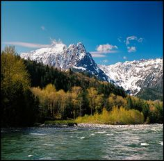 The Skykomish River and Mt.Index in 6x6 by Treveri, via Flickr