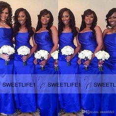 Royal Blue Custom Made Mermaid Long Satin Simple 2016 African Bridesmaids Dresses With Strapless Neck Sleeveless Beach Long Arabic Prom Gown Nice Bridesmaid Dresses Orange Bridesmaids Dresses From Sweetlife1, $76.09  Dhgate.Com