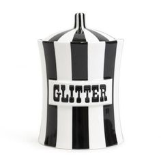 how cute is this Joanthan Adler porcelain glitter canister? would be so cute for a desk top