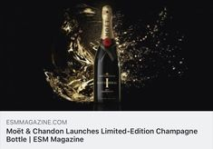 Moët & Chandon has unveiled a limited-edition bottle for Moët Impérial champagne in order to celebrate its anniversary, the company announced in a press r. Retail News, Drink Tags, Champagne Region, Moet Chandon, Alcoholic Drinks, Product Launch, Bottle, Flask, Liquor Drinks