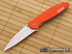 Kershaw Leek Orange Handle 1660OR Assisted Pocket Knife for Sale | GPKNIVES.com