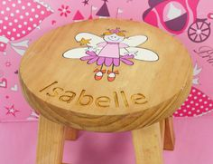 Personalised fairy stools, perfect for a little one's bedroom.